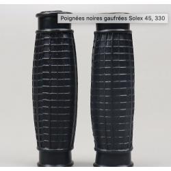 """Poignées noires """"gaufrées""""..."""